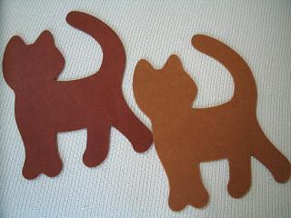 猫型インテリアマット