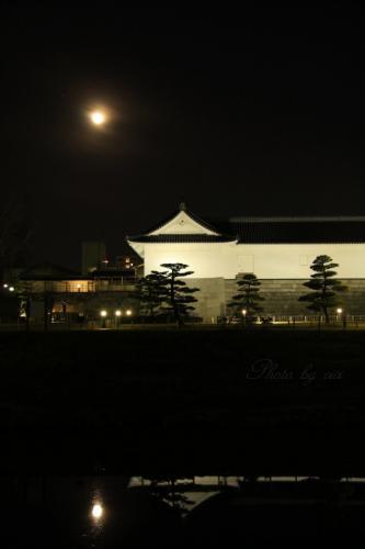 満月と巽櫓