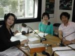 「コトバラジオ」収録風景 スギアキオさん 加藤昌美さん ぼあら