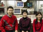 RSK通勤ラジオ絶好調 石田好伸さん(左)、ぼあら、辻文香さん(右)