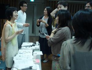 出版アカデミー大阪セミナー 名刺交換タイムで歓談