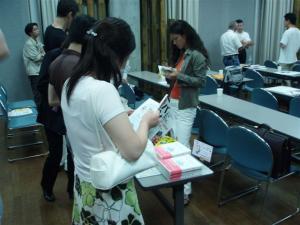 出版アカデミー大阪セミナー 著書販売コーナー
