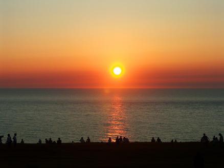 入道崎の夕日