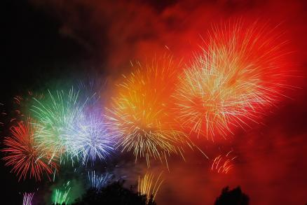 5色の花火