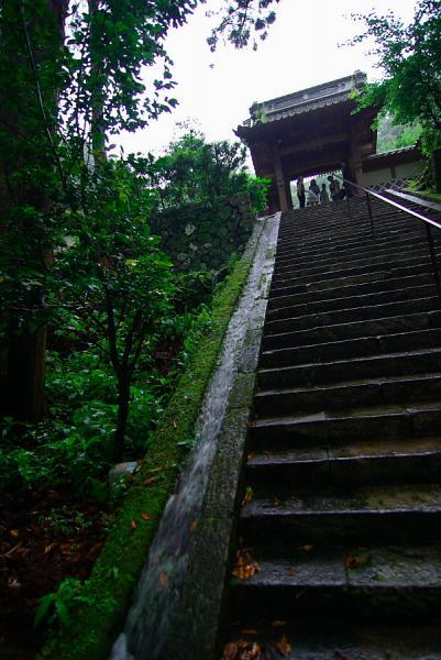 喜一寺の階段