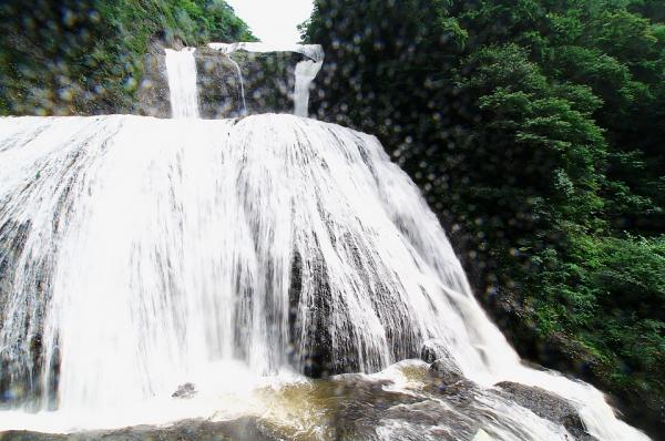 カメラにかかる水しぶき