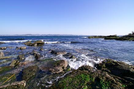 朔と亜紀の浜辺003