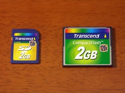 トランセンドのメモリーカード