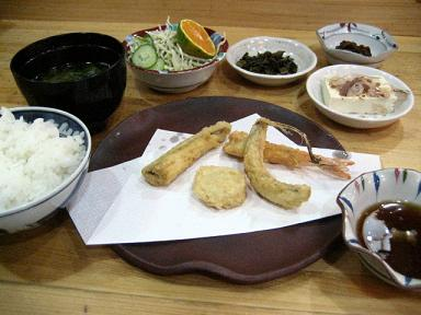 海山 天ぷら定食