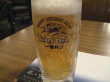 ロイホで生ビール