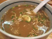 つけ汁のスープ割り