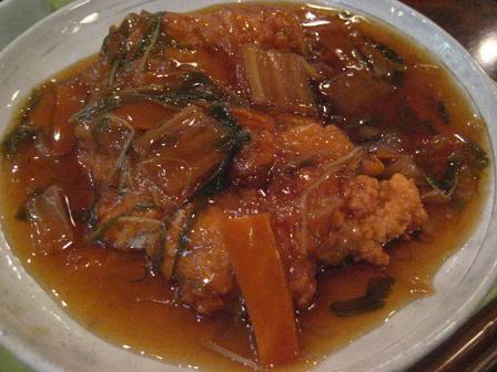 チキン南蛮の野菜あんかけ