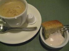コーヒーとバナナのシフォン
