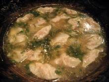 地鶏の餃子鍋