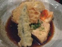 石蔵 野菜天と揚げ出し豆腐