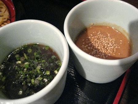 つけ汁は2種類