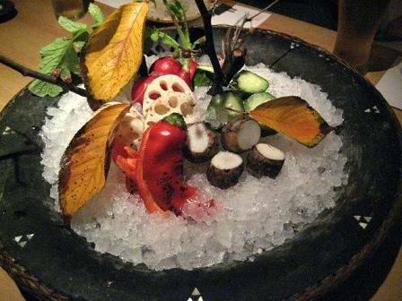 季節の野菜の前菜