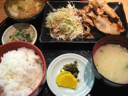 一番人気の生姜焼き定食