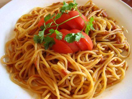 美味しいトマトのパスタ