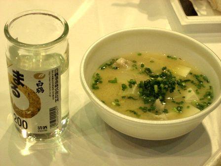ふく汁とワンカップ