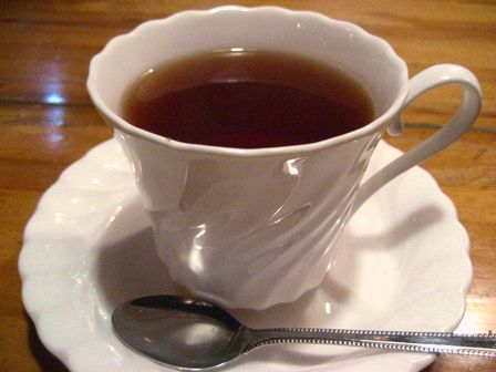 ドリンクは紅茶で。