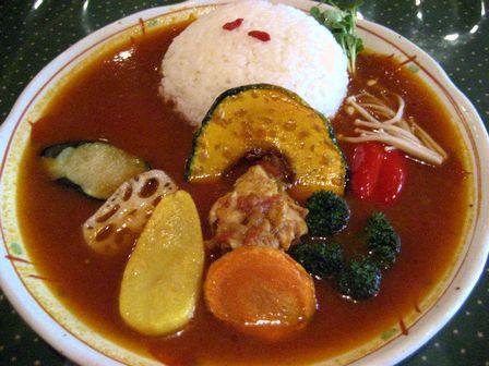 チキンカレー+野菜