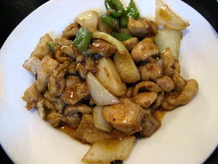 鶏のピリ辛炒め黒酢風味