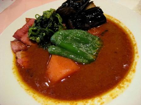 ベーコン野菜3辛