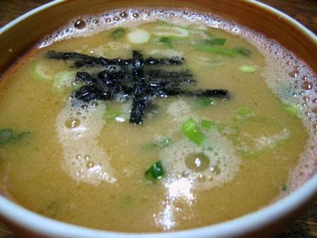 スープ割りは焼き海苔がいい