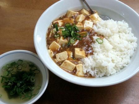 マーボ丼(スープ付き)