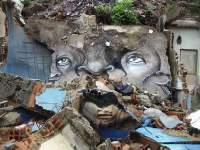 ブラジルの芸術的な落書きアート