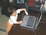 パソコンにイタズラ!!