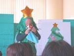 司会はクリスマスツリー