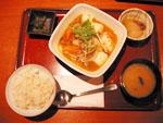 春キャベツと肉味噌の麻婆豆腐定食