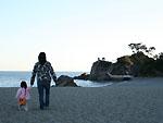 夕暮れの桂浜