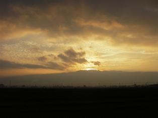 美ヶ原から日の出