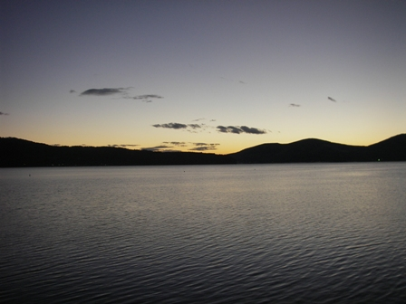 山中湖の日の出