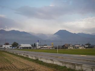 大天井岳と有明山