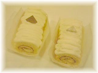 純白のロールケーキ♪