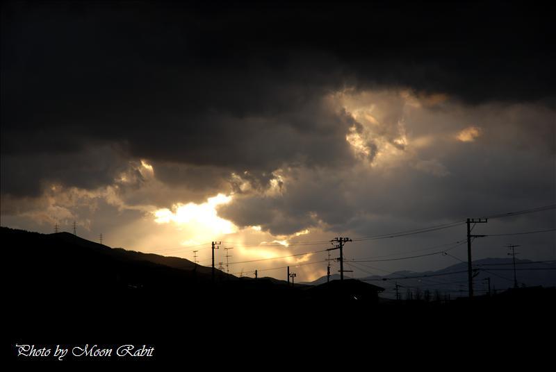 日没 西条市福武新田 2008.02.12