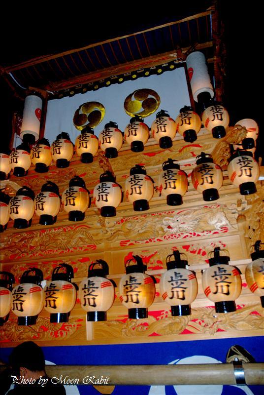 高尾神社例大祭(春祭り) その2 本殿祭での夜の上之川(上の川)だんじり 西条市氷見 2008.04.28