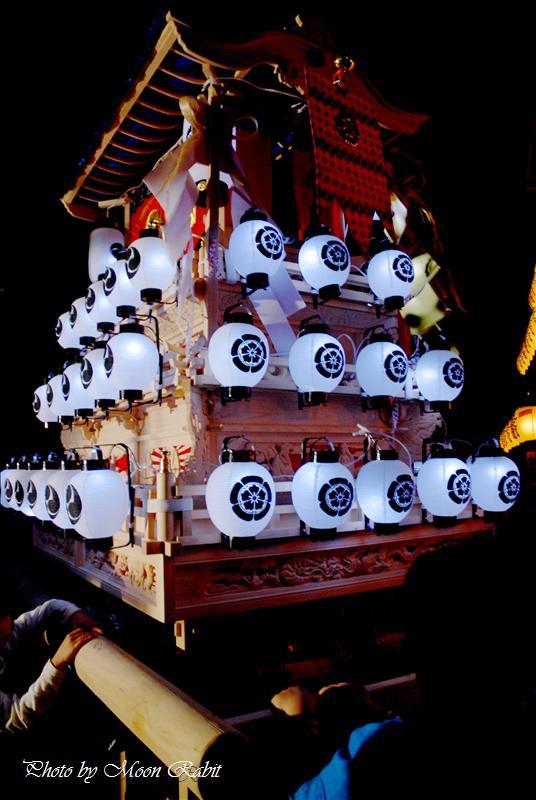 高尾神社例大祭(春祭り)本殿祭での夜の上之川(上の川)子供だんじり 西条市氷見 2008.04.28