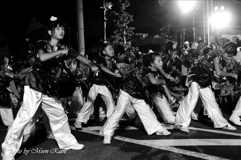 「2008 おいでや あそぼや まちよるけん 夏彩祭in壬生川」(なつさいさいinにゅうがわ) その2 ダンス夏彩祭参加連・Sinbi Jr(シンビジュニア) 西条市新地通り商店街