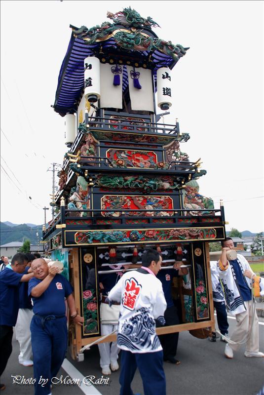 桜木神社(櫻木神社)祭礼 その2 氷見山道だんじり 西条市氷見 2008.09.28