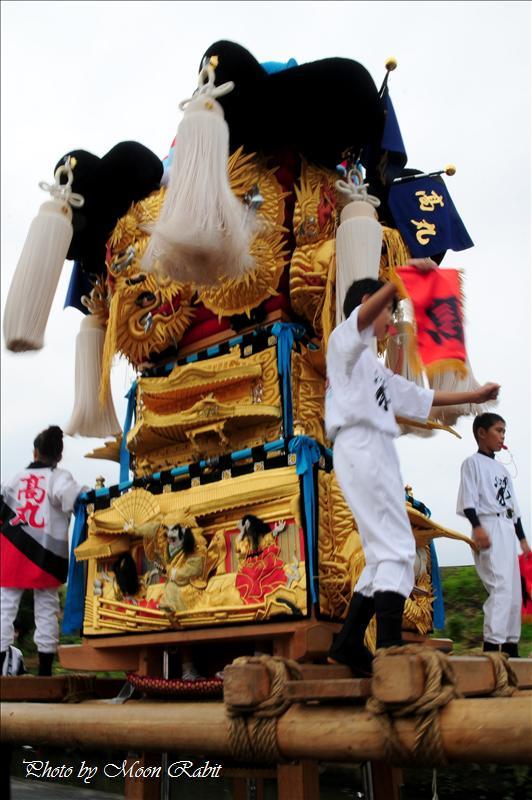 (西条まつり) 禎瑞(ていずい)嘉母(かも)神社祭礼 高丸(たかまる)・難波(なんば)・禎瑞上組子供太鼓台 2008.10.11