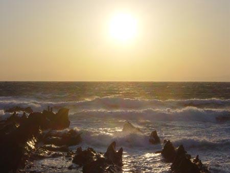荒崎の夕日