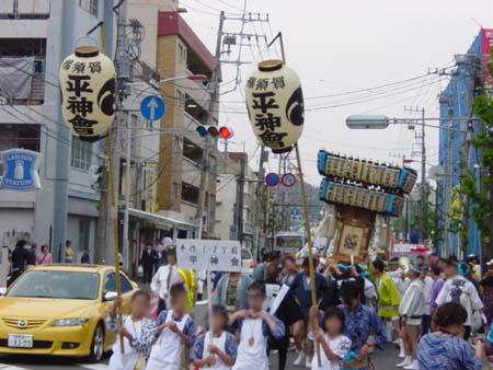 地元の町会神輿