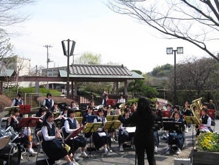 池上中学校吹奏楽部演奏
