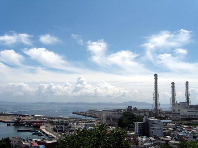 園内から見た久里浜港
