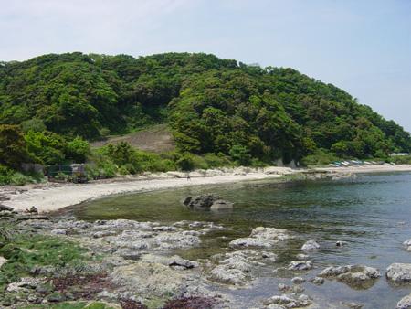 横須賀のとある海岸にて